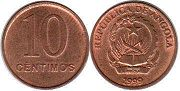 coin Angola 10 centimes 1999