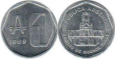 coin Argentina 1 austral 1989
