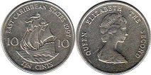 coin Eastern Caribbean States 10 cents 1997