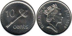 coin Fiji 10 cents 2009