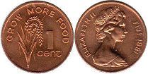 coin Fiji 1 cent 1981