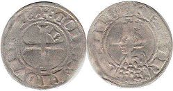 coin Provence double denier 1285-1309
