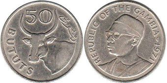 coin Gambia 50 bututs