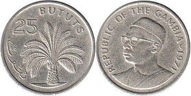 coin Gambia 25 bututs
