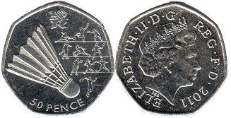 coin UK coin 50 pence 2011