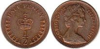 coin UK coin 1/2 penny 1982