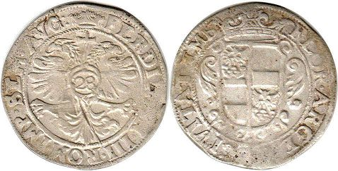 coin Emden 28 stuber (gulden) ND  (1637-1657)