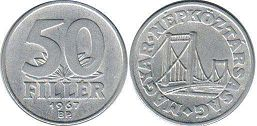 coin Hungary 50 filler 1967