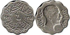 coin Iraq 4 fils 1931