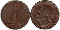 coin Netherlands 1 cent 1948