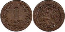 coin Netherlands 1 cent 1883