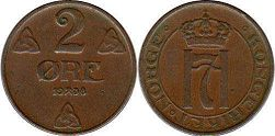 coin Norway 2 ore 1938