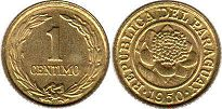 coin Paraguay 1 centimo 1950