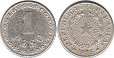coin Paraguay 1 peso 1925