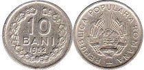 coin Romania 10 bani 1952