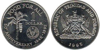 coin Trinidad and Tobago 1 dollar 1995