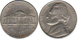US moneda 5 centavos 2000 Jefferson nickel