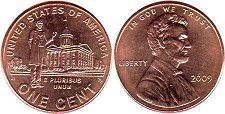 coin US commemorative coin 1 cent 2009 Lincoln