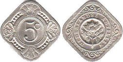 coin Netherlands Antilles 5 cents 1967
