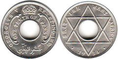 coin ONE TENTH OF A PENNY BRITHSH WEST AFRICA GEORGIVS V