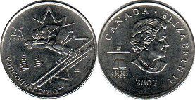 coin canadian commemorative coin 25 cents 2007