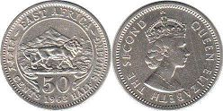 coin BRITISH EAST AFRICA 50 cents 1963