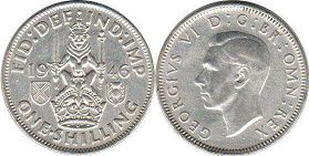 coin UK coin 1 shilling 1946