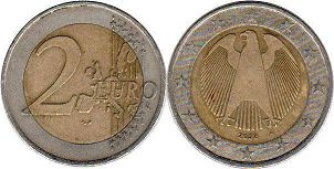 coin Germany 2 euro 2002
