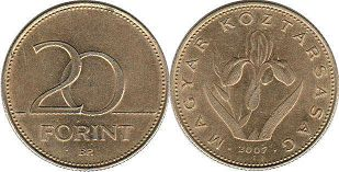 coin Hungary 20 forint 2007