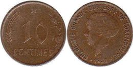 coin Luxembourg 10 centimes 1930
