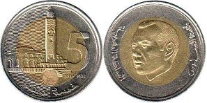 coin Morocco 5 dirhams 2011