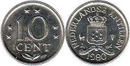 coin Netherlands Antilles 10 cents 1980