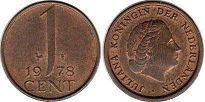 coin Netherlands 1 cent 1978