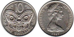 coin New Zealand 10 cents 1967