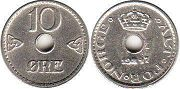 coin Norway 10 ore 1947