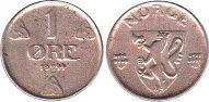 coin Norway 1 ore 1944