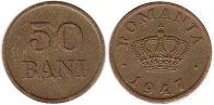 coin Romania 50 bani 1947