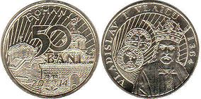 coin Romania 50 bani 2014