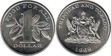 coin Trinidad and Tobago 1 dollar 1969