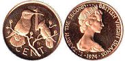 coin Virgin Islands 1 cent 1974