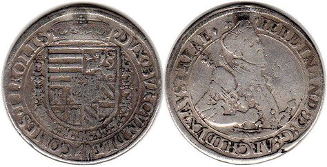 coin Austria 1 taler without date (1564-1595)