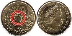 australian commemmorative coin 2 dollars 2015