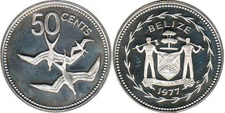 coin Belize 50 cents 1977