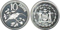coin Belize 10 cents 1981