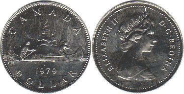 canadian coin 1 dollar 1979