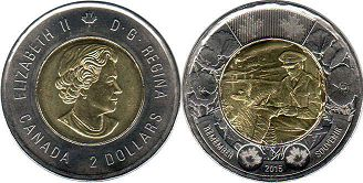 coin canadian commemorative coin 2 dollars 2015