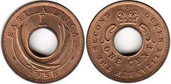 coin BRITISH EAST AFRICA 1 cent 1956