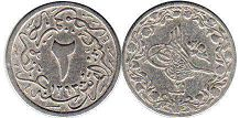coin Egypt 2 ushr-al- qirsh (2/10 qirsh) 1902