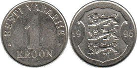 coin Estonia 1 kroon 1995