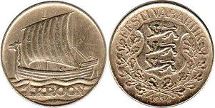 coin Estonia 1 kroon 1934